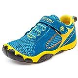 SAGUARO Jungen Trekking Wanderschuhe Kinderschuhe mit Klettverschluss Leicht Sport Schuhe Outdoor Laufschuhe Mädchen Turnschuhe Sneaker Blau, 30 EU