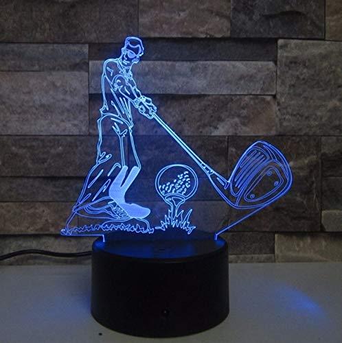 Golf Ball 3D Lampe Touch LED 7 Farbwechsel Sensor Sport 3D Nachtlicht Hause Raumdekoration Schreibtischlampe Beste Kind Geschenk