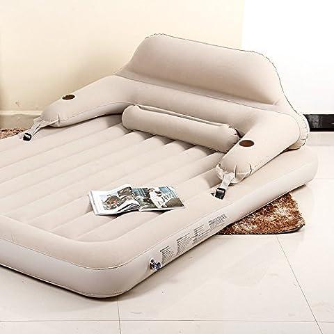 FEI&S Afelpada Deluxe de PVC inflable del respaldo plegable pequeña siesta cama doble cama inicio