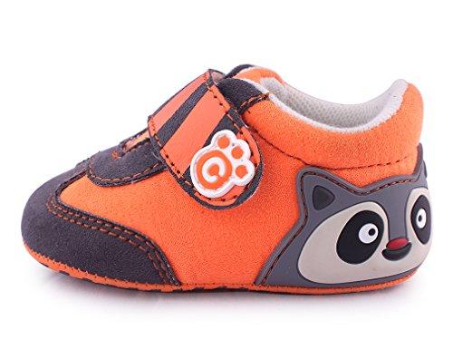 cartoonimals Babyschuhe Mädchen Jungen Neugeborene Weiche Rutschsicheren Baby Kinder Schuhe Boots Racoon Orange #19