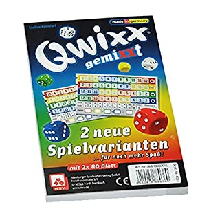 Nürnberger Spielkarten-Verlag GmbH Nuremberg Cartes à jouer–4033qwixx gemixxt New Jouet modèles, Lot de 2coussinets