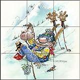 Fliesenwandbild - Ski Bum - von Gary Patterson - Küche Aufkantung / Bad Dusche