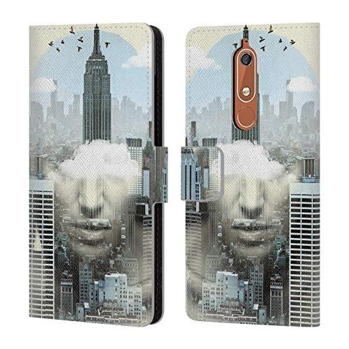 Head Case Designs Offizielle Vin Zzep New York City Shift Doppelte Aussetzung Brieftasche Handyhülle aus Leder für Nokia 5.1