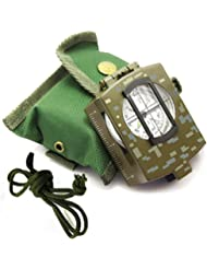 Kompass Wasserdicht Wandern Militär Navigation Kompass mit Leuchten im Dunkeln, Perfekt für Camping Wandern und Andere Outdoor-Aktivitäten (Tarnung)