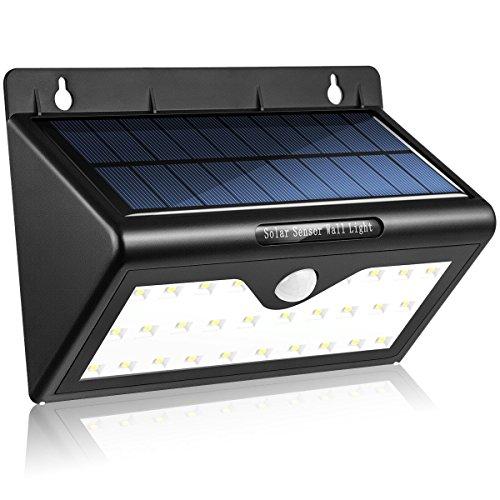 Bewegungs Sensor Solarlicht 46 LED, VOIMAKAS Weitwinkel Solarleuchten Außen Energiesparende Solarlampe, IP65 Sicherheits Licht für Garten, Patio, Plattform, Yard, Auffahrt, Garage, Treppen, - Garage Licht Sensor