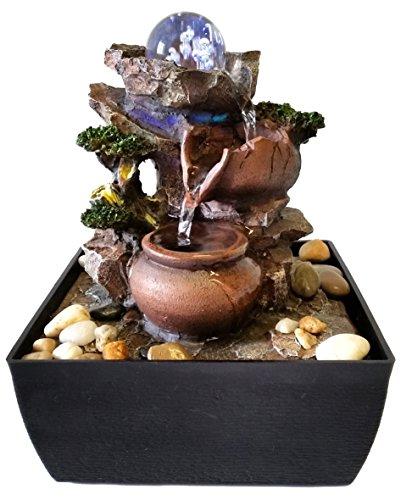 Fuente Zen para interiores Jarras / Esfera de cristal