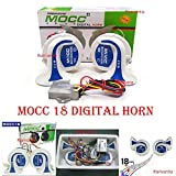 #1: Ramanta™ Car Motorbike Mocc Horn Imported Set with 18 Tunes Relay for Bajaj Pulsar AS150
