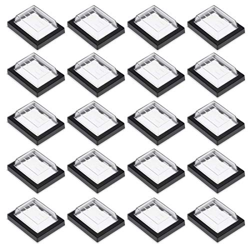Rectangle Rocker Switch (ZCHXD 20pcs Waterproof Case Switch Covers Caps Protectors Clear Black Rectangle Splash for Boat Rocker Switch)