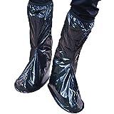 Sasairy Couvre-Chaussures Réutilisable Imperméable Pluie Neige Protection Chaussures Housses Antidérapantes de Vélo Moto Randonnée Unisexe Noir,L