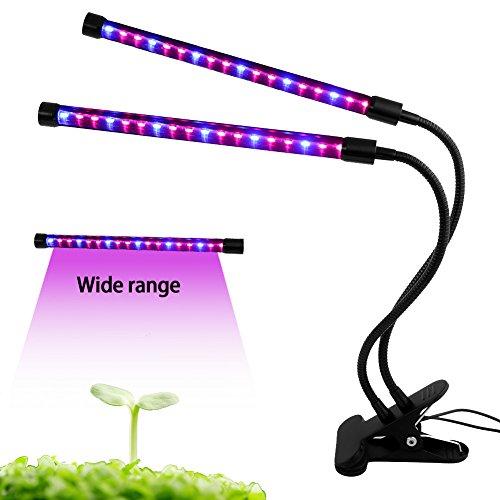 POWER BRIGHT Pflanze wachsen Licht Dual Head Verstellbare LightFlexible Schwanenhals LED Lampe für Pflanzenwachstum Aquarium-licht 36 Pflanzen