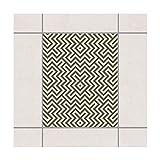 Fliesen Aufkleber–Geometrische Design Braun 25cm x 20cm, Set Größe: 20Stück