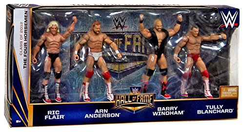 The Four Horsemen Hall of Fame WWE Elite 4 pack figures Ric Flair Arn Anderson Barry Windham Tully Blanchard by MATTEL by Mattel