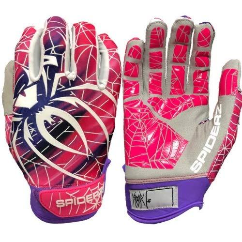 Spiderz Erwachsene Baseball/Softball Batting Handschuhe LITE 2019, Herren, Pink Blur, Large