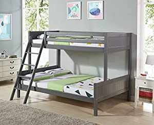Children's Triple Bunk Bed Frame - Made with Solid Pine, Available in 3 Colours