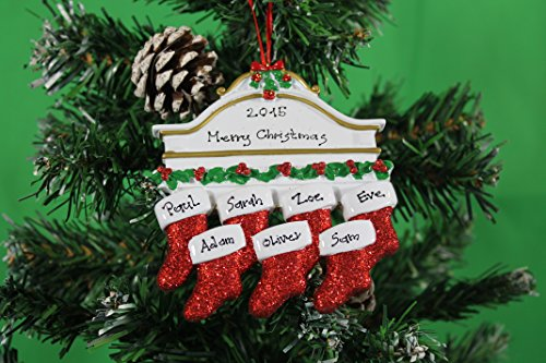 Personalized Christmas Tree Decoration Ornaments White Mantle Family