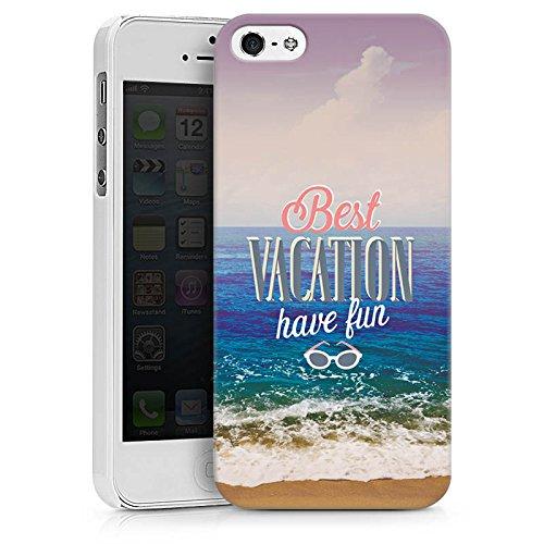 Apple iPhone X Silikon Hülle Case Schutzhülle Urlaub Meer Strand Hard Case weiß