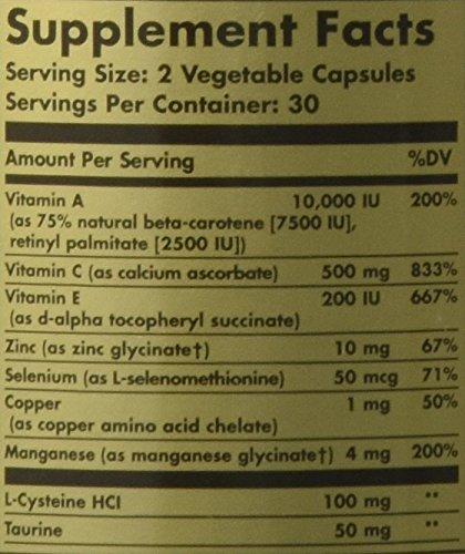 Solgar Antioxidant Formula Vegetable Capsules – 60 Capsules