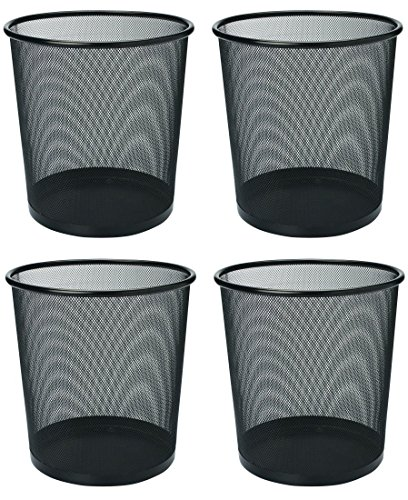 Callas Metal Mesh Round Dustbin for Home, Kitchen and Office, Set of 4