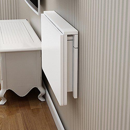 Drop-leaf Table bianco a parete pieghevole tavolo da pranzo scrivania caffè salvaspazio pieghevole convertibile da tavolo scrivania per bambini, Legno, 70 * 40cm