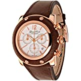 Glam Rock Women's GR10142 Miami Collection Chronograph Brown Leather Watch
