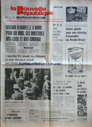 NOUVELLE REPUBLIQUE (LA) [No 10351] du 13/10/1978 ...