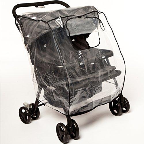 UNIVERSAL Regenverdeck/Regenschutz für Zwillingsbuggy Zwillingskinderwagen Jogger Sportwagen