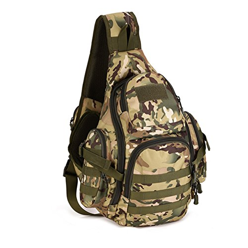 YAAGLE Outdoor Schultertasche groß Fassungsvermögen Fahrradrucksack Gepäck Reisetasche IPAD Brustbeutel 14 zoll Notebook Laptoptasche Herren Taschen Damen und Herren Unisex Tarnung 4