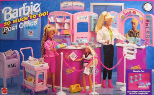 Barbie So Much To Do Post Office Playset (1995 Arcotoys, Mattel) (Us Post Office)