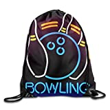 dongpujidiangongsi Bowling Sport Cool Kids Drawstring Bag Lightweight Sack Bag Travel