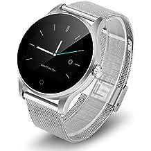 Diggro K88H - Smartwatch Reloj Pulsera Deportiva (Ritmo Cardiaco, Podómetro, Recordatorio Llamada SMS, Recordatorio Sedentaria, Monitor del Sueño), Plateado