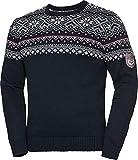 Hinterstoisser Herren Norwegerpullover in Dunkelblau, Strick-Pullover im Norweger-Design mit klassischem Jacquard-Muster, Gr. 48-60