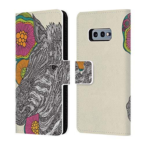 Head Case Designs Offizielle Valentina Larry Tiere Und Blumiges Brieftasche Handyhülle aus Leder für Samsung Galaxy S10e - Larry Leder