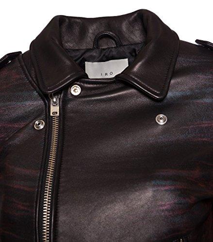 IRO Damen Lederjacke Gipsy Bikerjacke Jacke Leder – Leder – schwarz 01 black 42 - 3