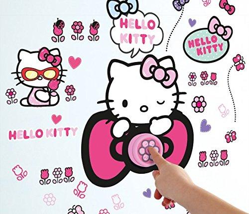 Preisvergleich Produktbild Hello Kitty Wandsticker leuchtend Wandtattoo Sticker Kindersticker Tapete (Hello Kitty Klingel)
