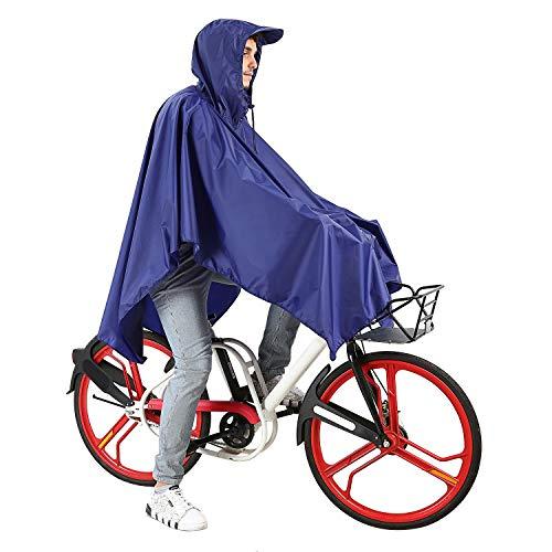 Handschlaufen fürs Fahrrad, Kapuze mit versteiftem Schild reißfest windicht reflektierend, Rucksack Abdeckung Regenschutz Regenumhang Regenponcho Raincoat Regencape Regen Poncho Damen Herren