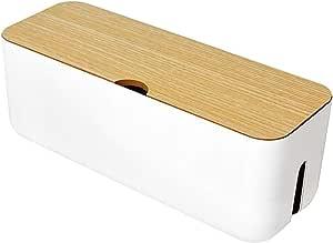 Sweet48 Kabel Organizer Box Drahtmanagement Kabel Aufbewahrungsbox Verlängerungsbox Steckdosenleiste Kabel Box Verstecken Sie Verlängerungskabel Und Elektrische Kabel Weiß Free Size Küche Haushalt