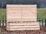 Pflanzkübel Holz lang mit Sichtschutz, Douglasie Natur