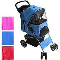 Leopet Hunde Pet Wagen Buggy Stroller mit Klappfunktion (Farbwahl) inkl. Einkaufstasche