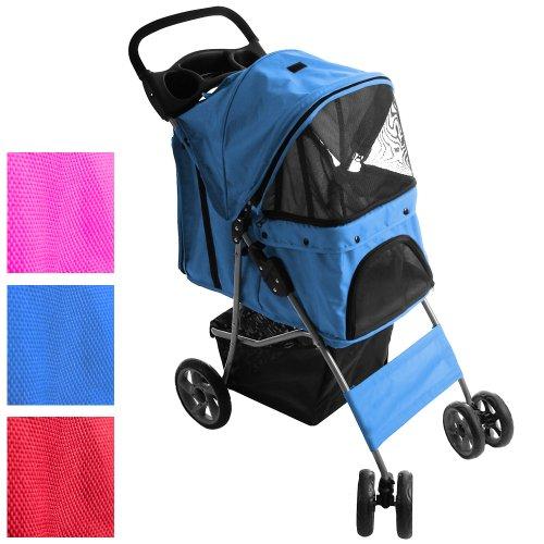 Artikelbild: Leopet Hunde Pet Wagen Buggy Stroller mit Klappfunktion (Farbwahl) inkl. Einkaufstasche