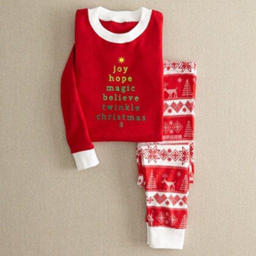 Blesiya Pigiami Due Pezzi Di Natale Da Famiglia Bambini Mamma Papà Invernale Regalo Ficco Di Neve Renna Albero Di Natale 18