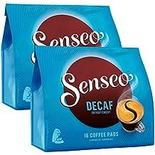 Senseo Decaf / Descafeinado, Nuevo Diseño, Paquete de 2, 2 x 16 Monodosis