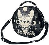 Banned Ankh Cat Handtasche schwarz