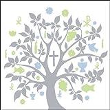 Serviette Ambiente Kommunion/Konfirmation Communion SYMBOLS Motiv 2016 silver silber 20 Servietten pro Packung