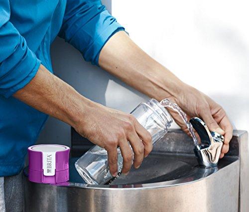 Brita Fill&Go - Botella de agua filtrada de 0,6 l con 1 filtro MicroDisc, color lila