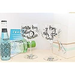 Copa de gin tonic personalizable - Enamorados