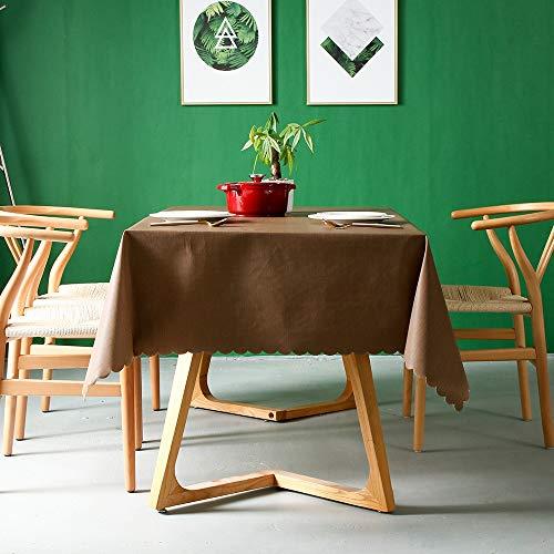 ETH Europäische Moderne Minimalistische Braune Volltonfarbe PVC Multi-Size Wasserdicht Einweg Öldicht Anti-Hot Baumwolle Leinen Tischdecke Tischset Vorzüglich (Size : 110 * 170cm)