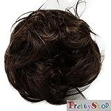 PRETTYSHOP Parrucchino Haargummi Updos panino disordinata leggermente ondulato marrone # 9 G6B