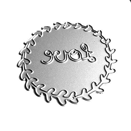Beikoard Messerform Blume, LOVE Ring Stanzschablone Scrapbooking Neue Blume Herz Metall Stanzformen Schablonen DIY Scrapbooking Album Papier Karte Handwerk (B)