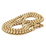Akitsune Baca Kette 50cm - Halskette für Frauen und Herren aus Edelstahl - Minimalist - Gold