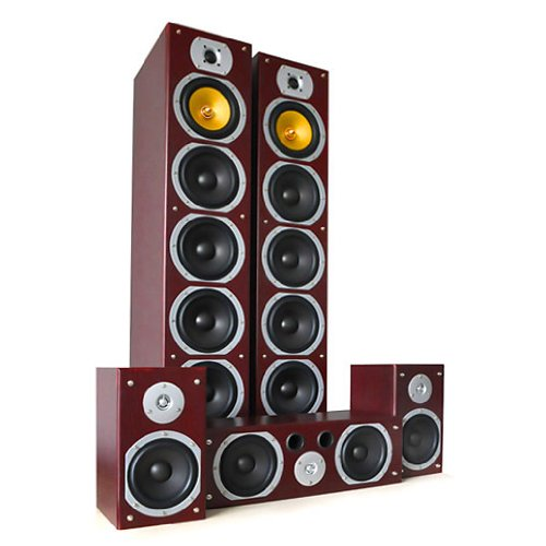 51DQ98eg1VL. SS500  - Beng V9B Home Theatre 4-Way Speaker Set (1240W Max, Bass Reflex & 5 Channels) - Mahogany